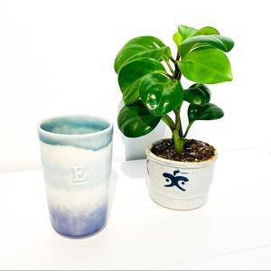 "ANTHROPOLOGIE Monogram ""E"" Ceramic Mug Vase"